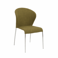 Eurostyle Sy  Green/Brushed Stainless Steel Side Chair (Set of 4)