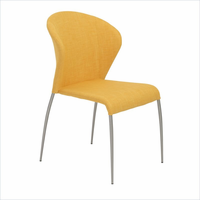 Eurostyle Sy Yellow/Brushed Stainless Steel Side Chair (Set of 4)