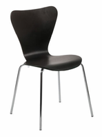 Eurostyle Tendy Wenge/Chrome Stack Chair (set of 4)