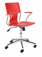 Eurostyle Terry Red/Chrome Office Chair