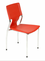 Eurostyle Terry Red/Chrome Stacking Chair (set of 4)