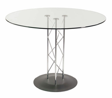 "Eurostyle Trave 42"" Dining Table with Clear Glass Top"