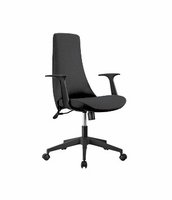 Eurostyle Tupac W/Leatherette - Black /Black Office Chair