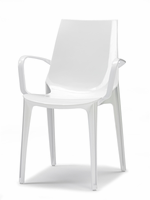 Eurostyle Vanity Glossy White Armchair (Set of 2)