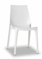 Eurostyle Vanity Glossy White Chair (Set of 4)