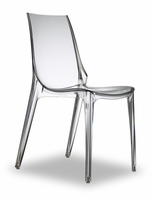 Eurostyle Vanity Transparent Chair (Set of 4)