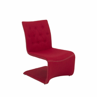 Eurostyle Ville Red Lounge Chair (Set of 2)
