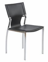 Eurostyle Vinnie Leather Side Chair (set of 4)