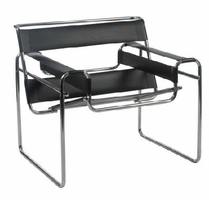 Eurostyle Wassily Black/Chrome Lounge Chair