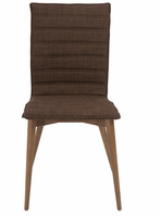 Eurostyle Yoland Brown/Walnut Side Chair (Set of 2)