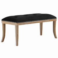 Expression Upholstered Fabric Bench, Black [FREE SHIPPING]
