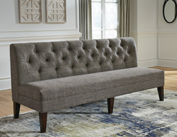 Ashley Furniture Extra Large Upholstered DRM Bench, Graphite