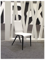 Exxo - Modern White & Black Dining Chair (Set of 2)