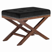 Facet Wood Bench, Black [FREE SHIPPING]