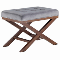 Facet Wood Bench, Gray [FREE SHIPPING]