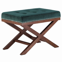 Facet Wood Bench, Green [FREE SHIPPING]