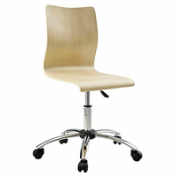 Fashion Armless Office Chair, Natural [FREE SHIPPING]