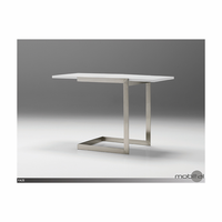 Faze Extension End Table High Gloss White