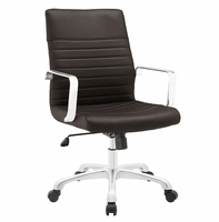 Finesse Mid Back Office Chair, Brown [FREE SHIPPING]