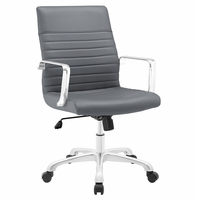 Finesse Mid Back Office Chair, Gray [FREE SHIPPING]