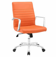 Finesse Mid Back Office Chair, Orange [FREE SHIPPING]