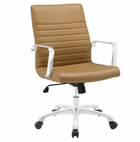 Finesse Mid Back Office Chair, Tan [FREE SHIPPING]