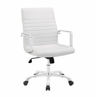 Finesse Mid Back Office Chair, White [FREE SHIPPING]