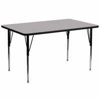 Flash Furniture 30''W x 72''L Rectangular Activity Table with Grey Thermal Fused Laminate Top and Standard Height Adjustable Legs
