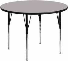 Flash Furniture 42'' Round Activity Table with Grey Thermal Fused Laminate Top and Standard Height Adjustable Legs
