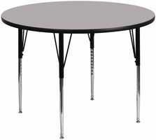 Flash Furniture 60'' Round Activity Table with Grey Thermal Fused Laminate Top and Standard Height Adjustable Legs