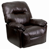 Flash Furniture Contemporary Bentley Brown Leather Chaise Rocker Recliner