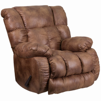 Flash Furniture Contemporary, Breathable Comfort Padre Almond Fabric Rocker Recliner