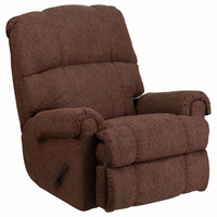 Flash Furniture Contemporary Couger Chocolate Chenille Rocker Recliner