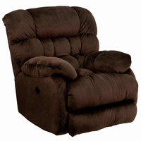 Flash Furniture Contemporary Sharpei Chocolate Microfiber Power Recliner with Push Button