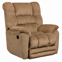 Flash Furniture Contemporary Temptation Fawn Microfiber Power Recliner with Push Button