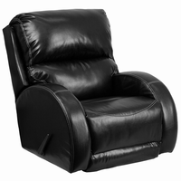Flash Furniture Contemporary Ty Black Leather Rocker Recliner