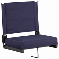 Flash Furniture Game Day Seats® by Flash with Ultra-Padded Seat in Navy