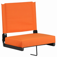 Flash Furniture Game Day Seats® by Flash with Ultra-Padded Seat in Orange