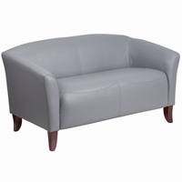 Flash Furniture HERCULES Imperial Series Gray Leather Loveseat