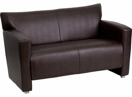 Flash Furniture HERCULES Majesty Series Brown Leather Loveseat