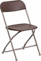 Flash Furniture HERCULES Series 800 lb. Capacity Premium Brown Plastic Folding Chair