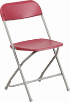 Flash Furniture HERCULES Series 800 lb. Capacity Premium Red Plastic Folding Chair