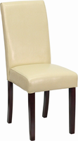 Flash Furniture Ivory Leather Upholstered Parsons Chair