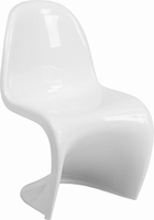 Flash Furniture Mystique Series White Plastic Stacking Side Chair