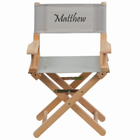 Flash Furniture Personalized Kid Size Directors Chair in Gray