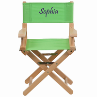 Flash Furniture Personalized Kid Size Directors Chair in Green