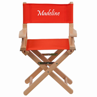 Flash Furniture Personalized Kid Size Directors Chair in Red