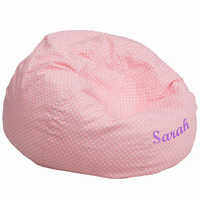 Flash Furniture Personalized Oversized Light Pink Dot Bean Bag Chair