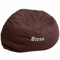 Flash Furniture Personalized Oversized Solid Brown Bean Bag Chair