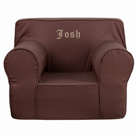 Flash Furniture Personalized Oversized Solid Brown Kids Chair